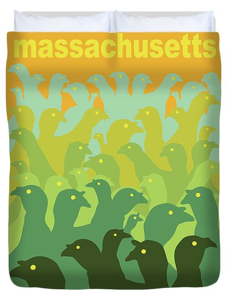 Green Fields Of Brookline Duvet Cover