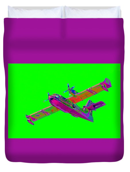 Green Fire Flight  Duvet Cover