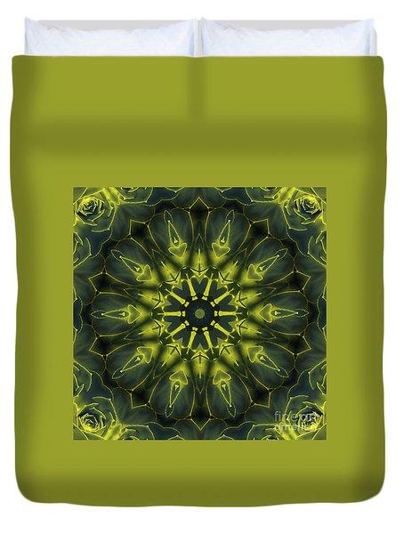Succulent Mandala Duvet Cover