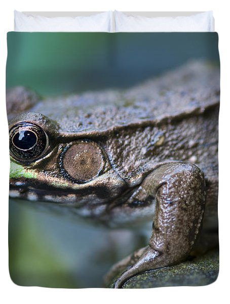 Green Frog Duvet Cover