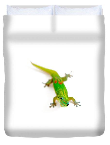 Green Gecko Duvet Cover