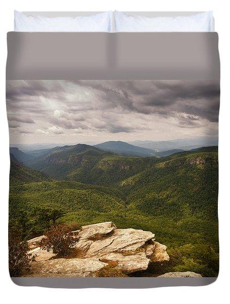 Green Gorge Duvet Cover
