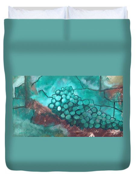Green Grapes Duvet Cover by Roxy Rich