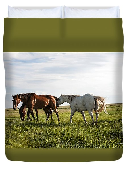 Green Grass Of Summer Duvet Cover