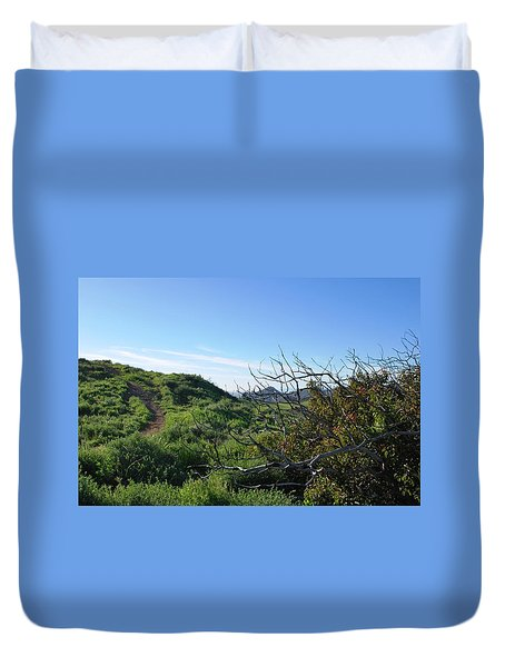 Duvet Cover featuring the photograph Green Hills And Bushes Landscape by Matt Harang