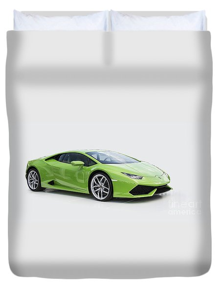 Green Huracan Duvet Cover