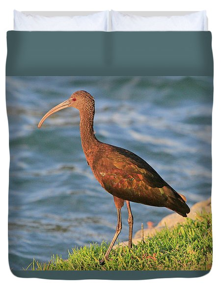 Green Ibis 4 Duvet Cover