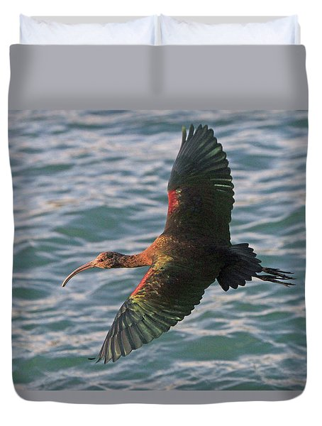 Green Ibis 6 Duvet Cover