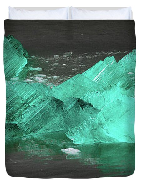 Green Iceberg Duvet Cover