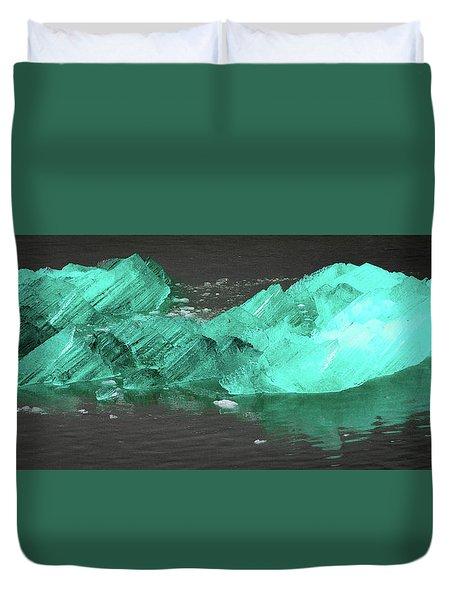 Green Iceberg Duvet Cover