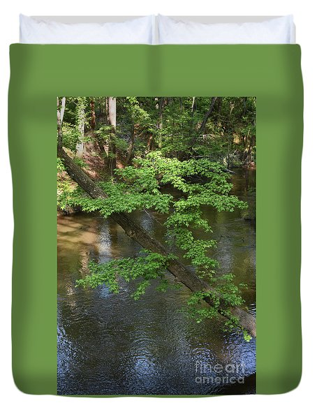 Duvet Cover featuring the photograph Green Is For Spring by Skip Willits