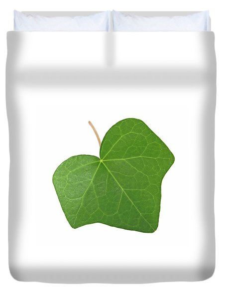 Green Ivy Leaf Duvet Cover