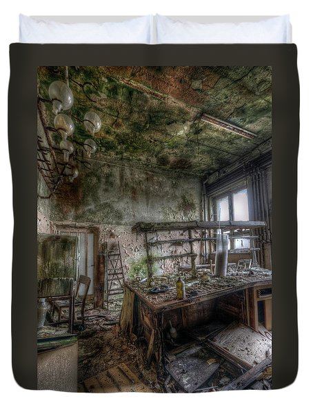 Green Lab Duvet Cover by Nathan Wright