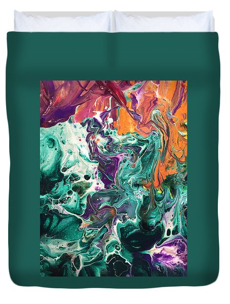 Green Lagoon Duvet Cover