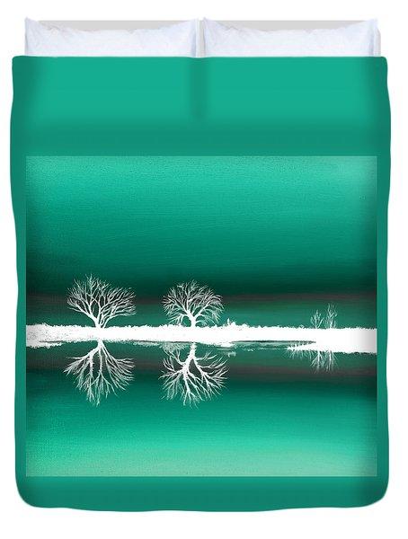 Green Landscape Duvet Cover