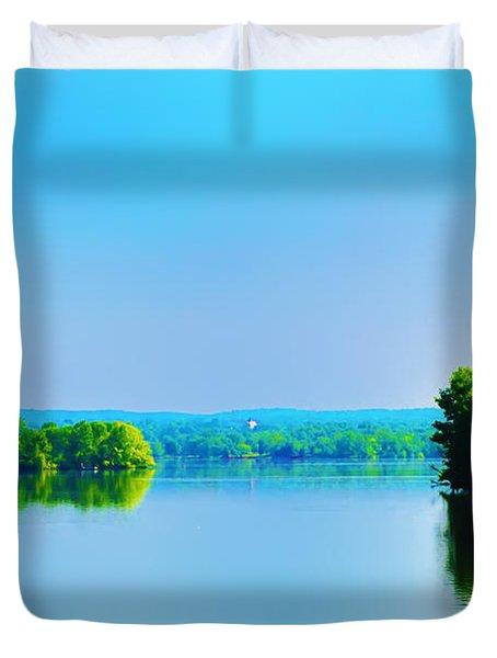 Green Lane Reservoir Duvet Cover by Bill Cannon