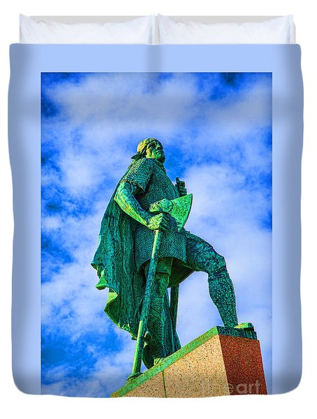 Duvet Cover featuring the photograph Green Leader by Rick Bragan