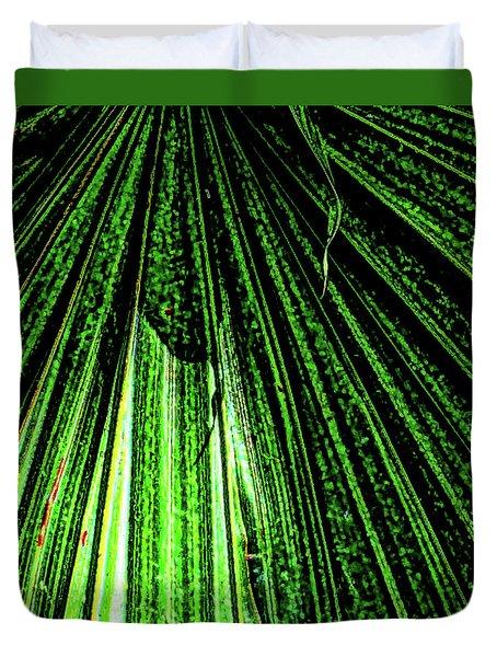 Green Leaf Forest Photo Duvet Cover