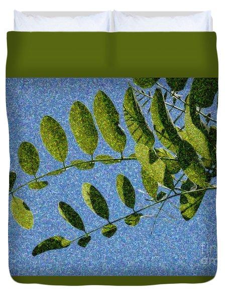 Green Leaves 2 Duvet Cover