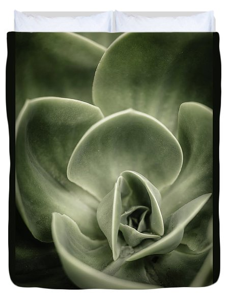 Duvet Cover featuring the photograph Green Leaves Abstract IIi by Marco Oliveira