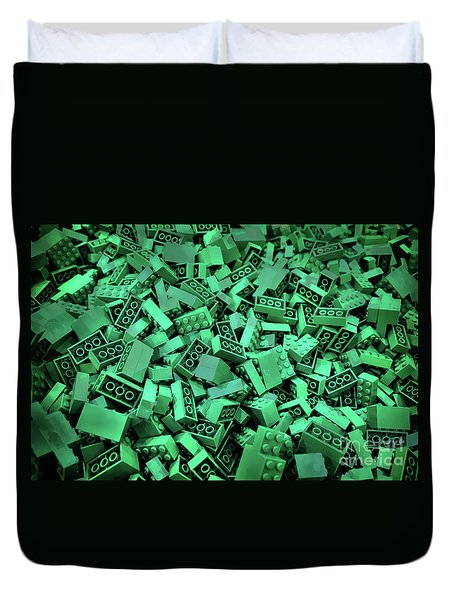 Green Lego Abstract Duvet Cover