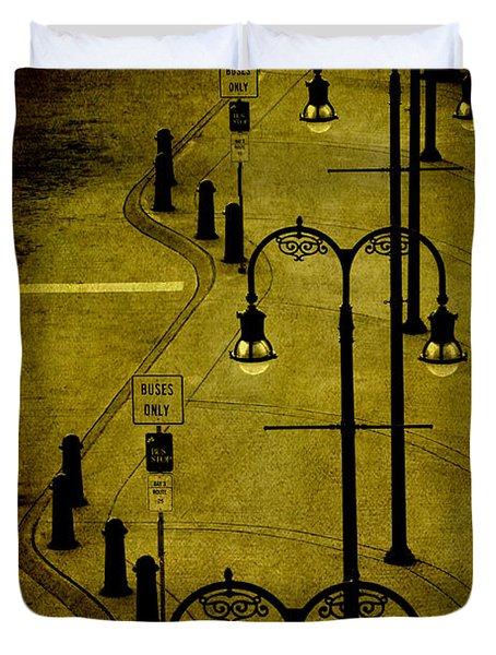 Green Light Duvet Cover by Susanne Van Hulst