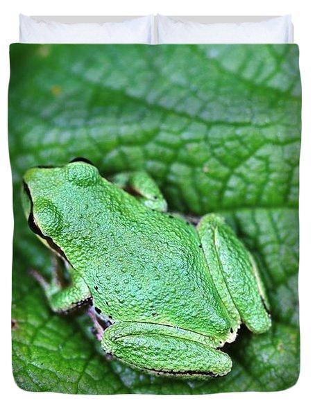 Green Like Me Tree Frog Duvet Cover