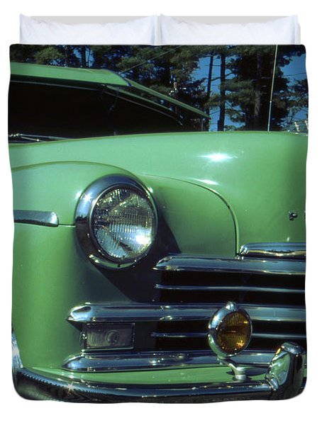 American Limousine 1957 - Historic Car Photo Duvet Cover