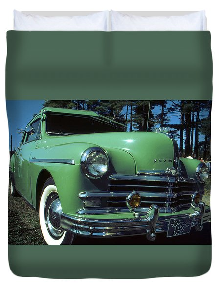 American Limousine 1957 Duvet Cover by Art America Gallery Peter Potter