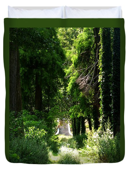 Green Lombardy Duvet Cover