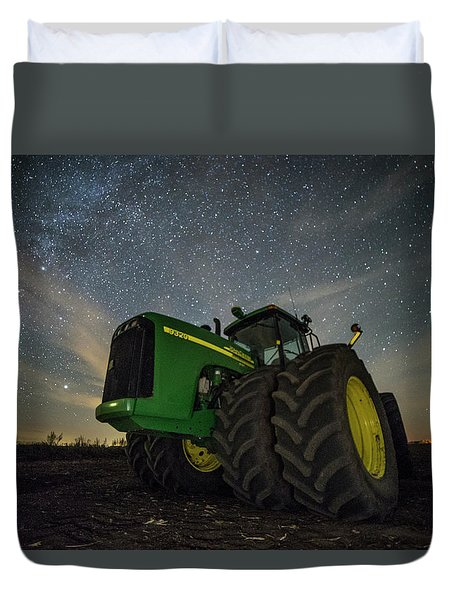 Duvet Cover featuring the photograph Green Machine  by Aaron J Groen