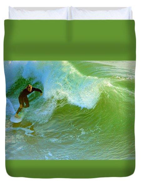 Green Machine Duvet Cover