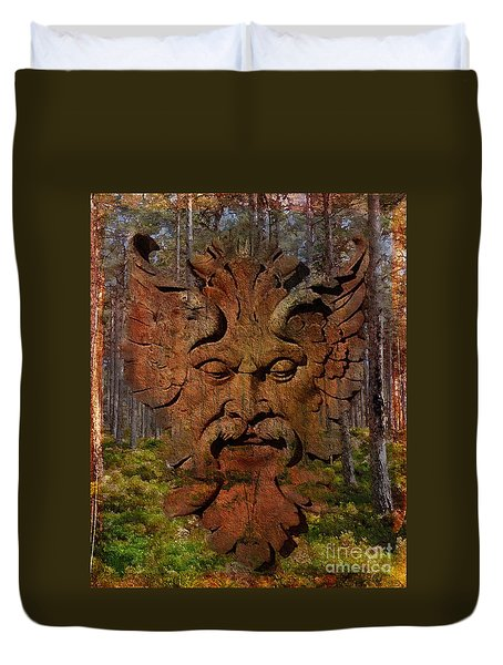 Green Man Of The Forest 2016 Duvet Cover
