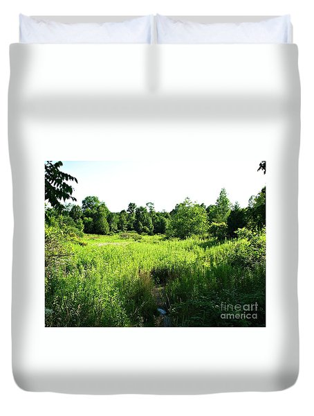 Green Meadow Duvet Cover