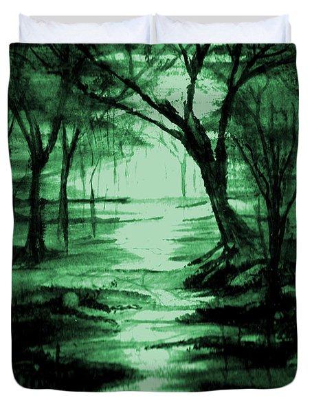 Green Mist Duvet Cover