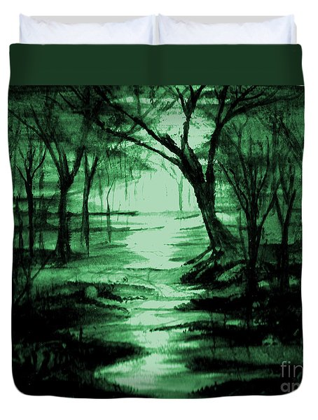 Green Mist Duvet Cover