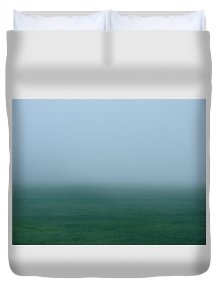 Green Mist Wonder Duvet Cover