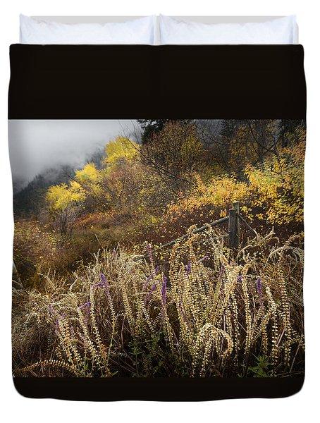 Green Mountain Dawn Duvet Cover by John Poon