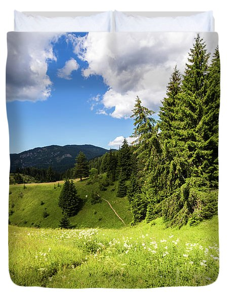 Green Mountain Duvet Cover by Evgeni Dinev
