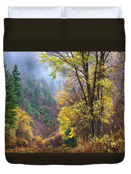 Green Mountain Fall Duvet Cover