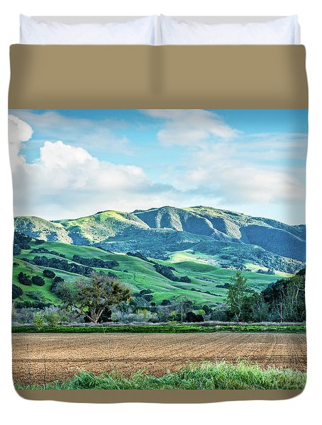 Green Mountains Duvet Cover