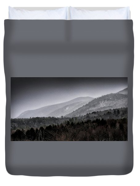 Green Mountains - Vermont Duvet Cover by Brendan Reals