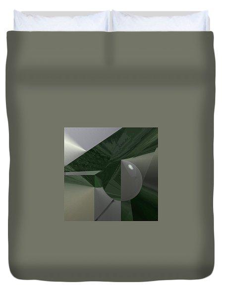 Green N Gray Duvet Cover