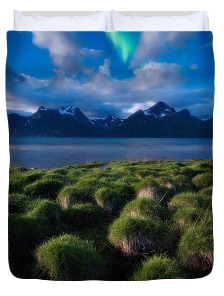 Green Night Duvet Cover