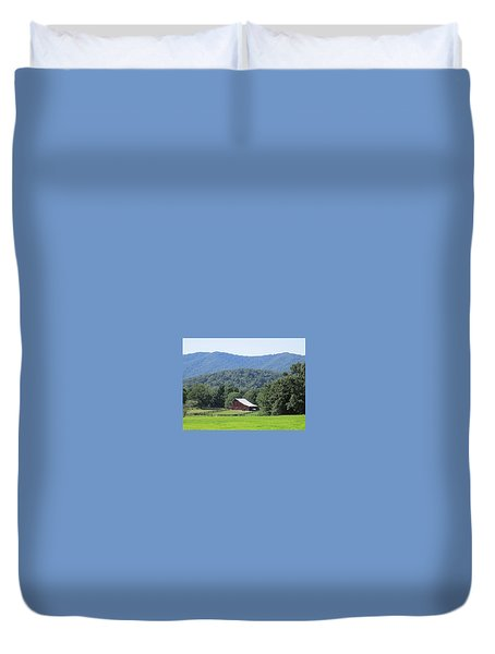 Mountain Barn Retreat Duvet Cover