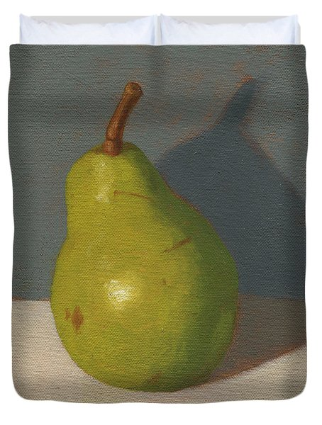 Green Pear Duvet Cover
