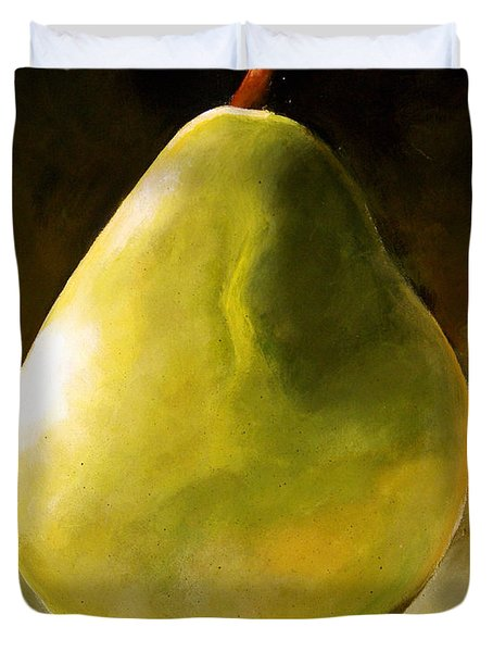 Green Pear Duvet Cover by Toni Grote