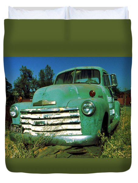 Green Pickup Truck 1959 Duvet Cover