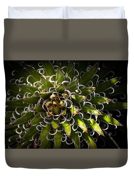 Green Plant Duvet Cover