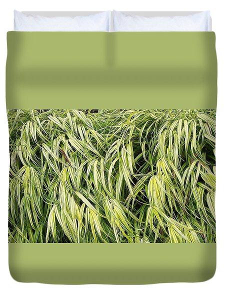 Green Plants Duvet Cover